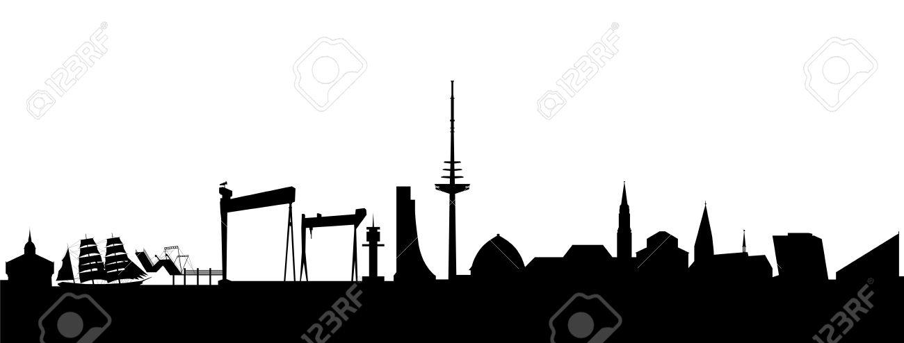 Kiel Skyline Abstract Royalty Free Cliparts, Vectors, And Stock.