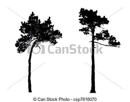 Stock Illustration von Holz, silhouette, kiefer.