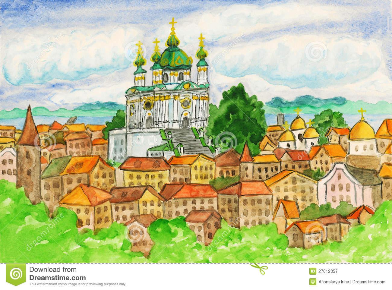 Kiev, Painting Royalty Free Stock Photography.