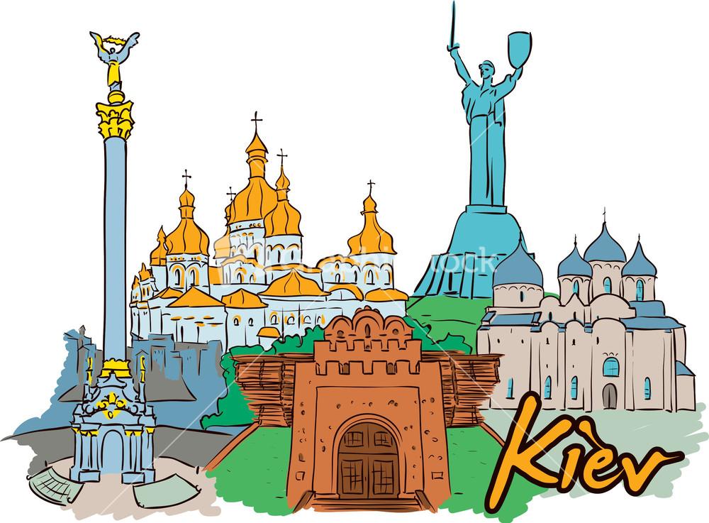 Kiev Vector Doodle.