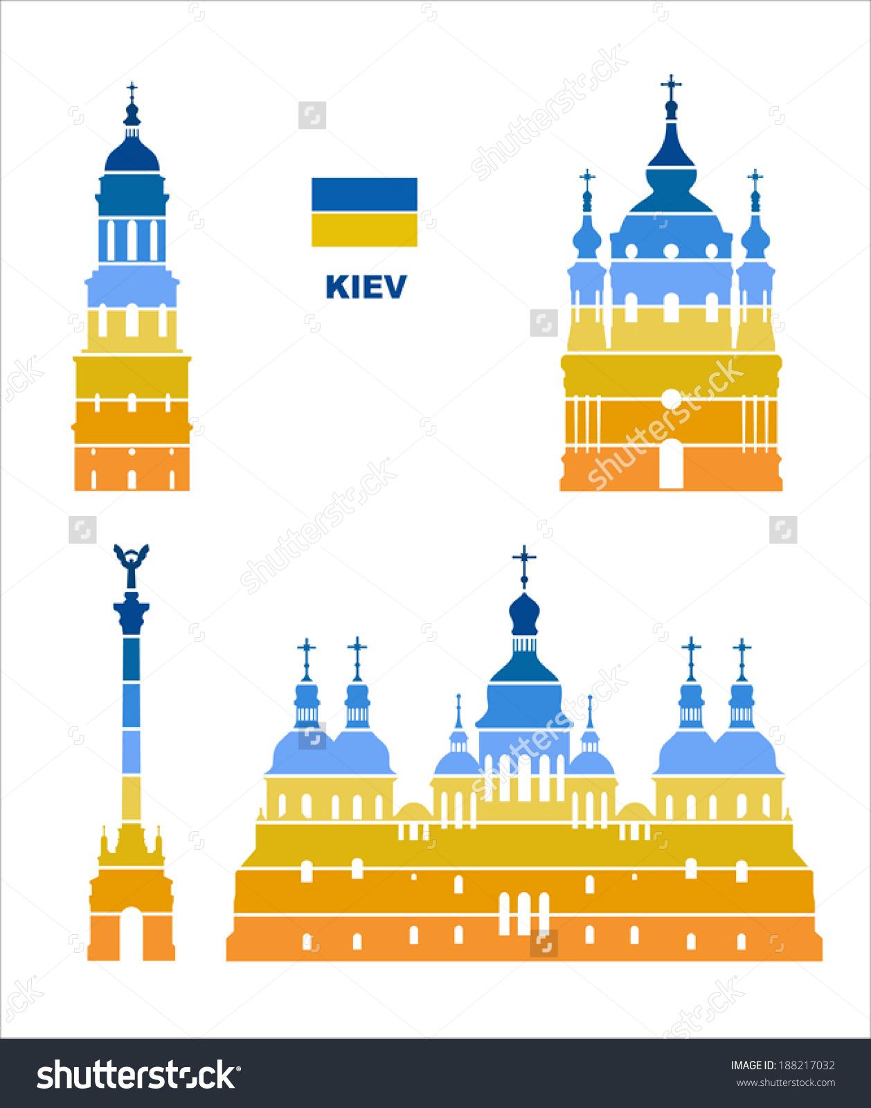 Vector Graphic Symbols Kiev Stock Vector 188217032.