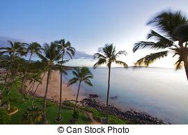 Stock Photography of Maui Island\'s Coastline in Kihei, Hawaii.