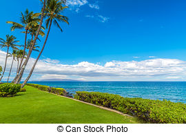Stock Image of Kihei Coastline.