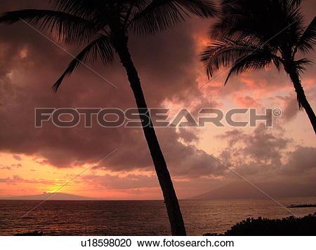 Stock Photography of Kihei, Maui, HI, Hawaii, Leeward Coast.