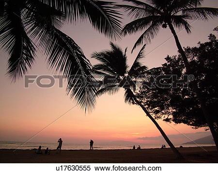 Stock Image of Kihei, Maui, HI, Hawaii, Leeward Coast, Maalaea Bay.