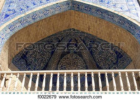 Stock Photograph of Uzbekistan, Khiva, Islam Khodja Madrasah.