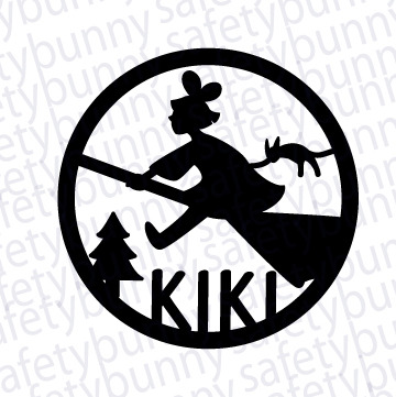 Kiki\'s Delivery Service from Safety Bunny\'s Decal Shop.