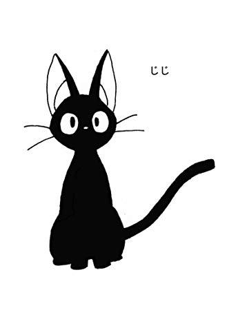 STUDIO GHIBLI KIKI\'S DELIVERY SERVICE BLACK CAT LOGO VINYL STICKERS SYMBOL  5.5\