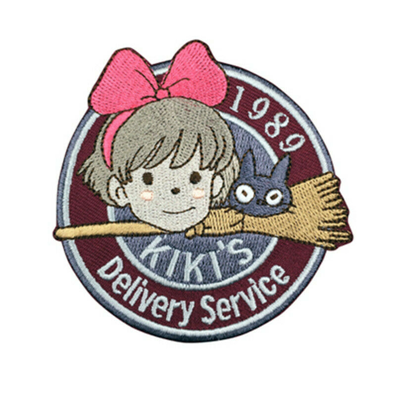 Details about Studio Ghibli Majo Kiki\'s Delivery Service Miyazaki  Embroidery Patch Cosplay Toy.