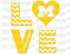 Chevron Love University of Nebraska Cornhuskers Football Logo.