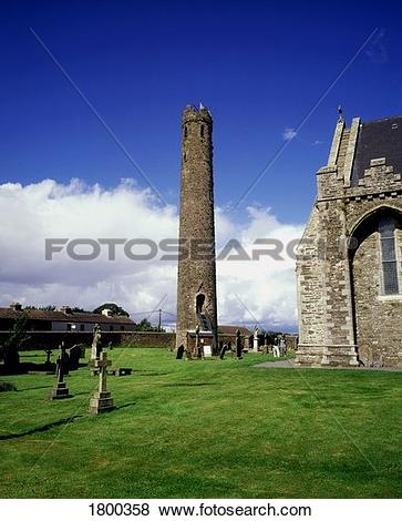 Pictures of Round Tower and St Brigid's Cathedral in Kildare town.