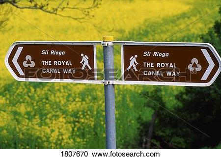 Stock Photography of The Royal Canal Way, County Kildare, Ireland.