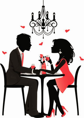 Romantic Dinner For Two Clipart.