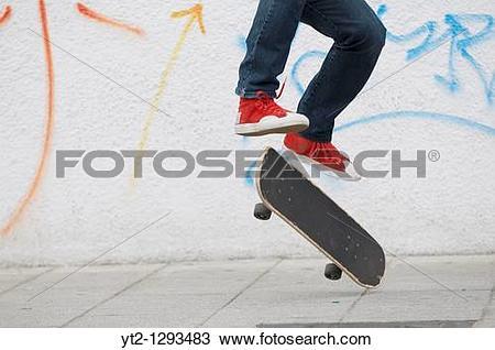 Stock Photo of Kilian Martin, Freestyle Skateboard World Cup.