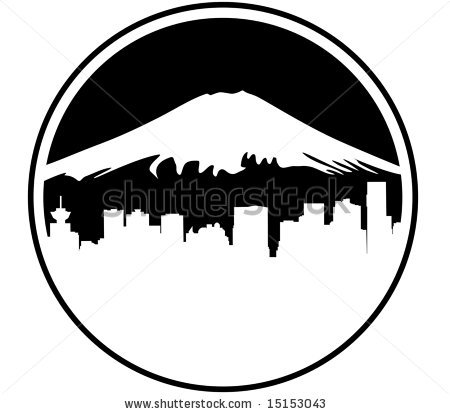 Mountain Skyline Clip Art.