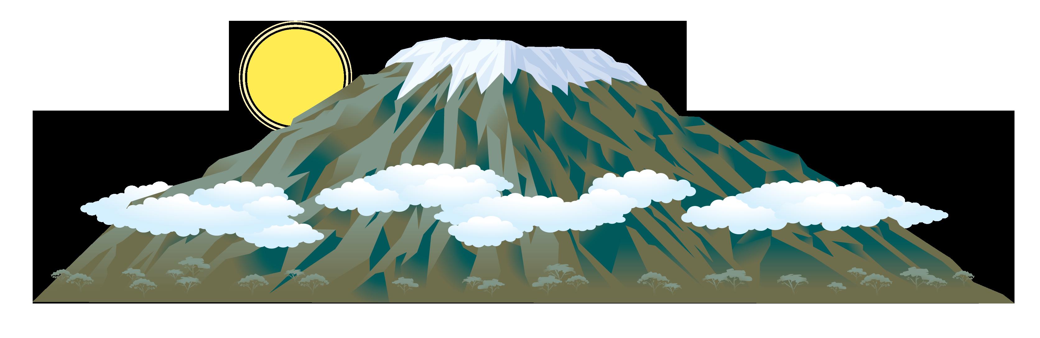 Mount Kilimanjaro Clipart.