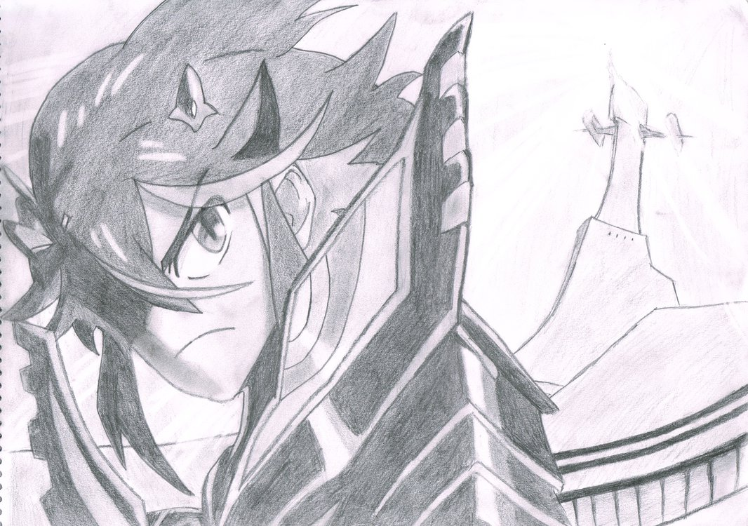 Matoi Ryuuko (Kill la Kill) Pencil Sketch by WebbyMoto on DeviantArt.
