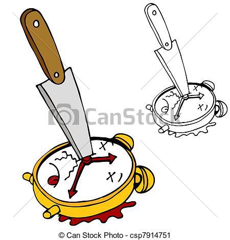 Vector Clip Art of Killing Time.