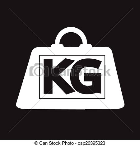 Vector Illustration of weight kilogram icon csp26395323.