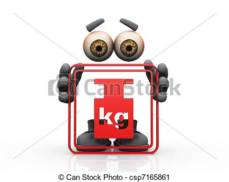 Clipart of Figure holding frame with kilo weight csp7165861.