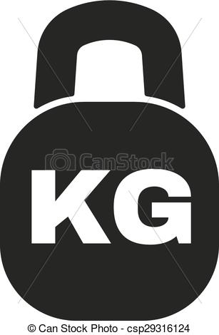 Vector Illustration of The kilogram icon. Kg and weight symbol.