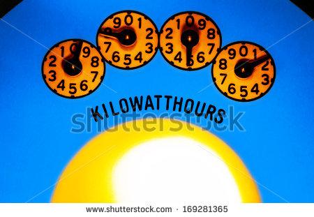 """kilowatt Hours"""" Stock Photos, Royalty."""