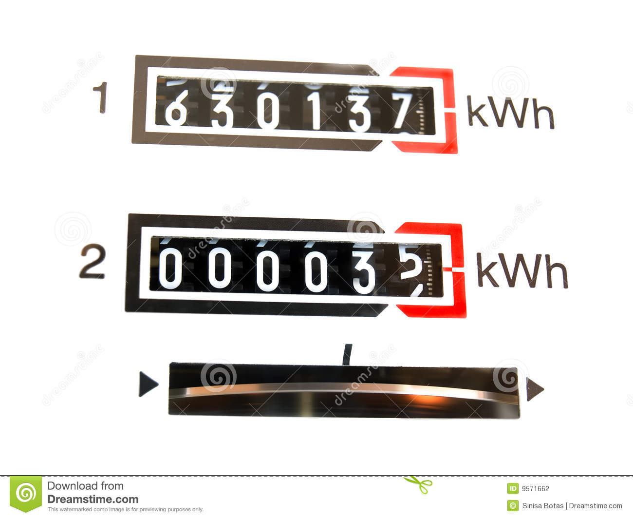 KWh Counter Stock Photography.