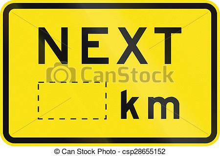 Stock Illustrations of Next Kilometers in Australia.