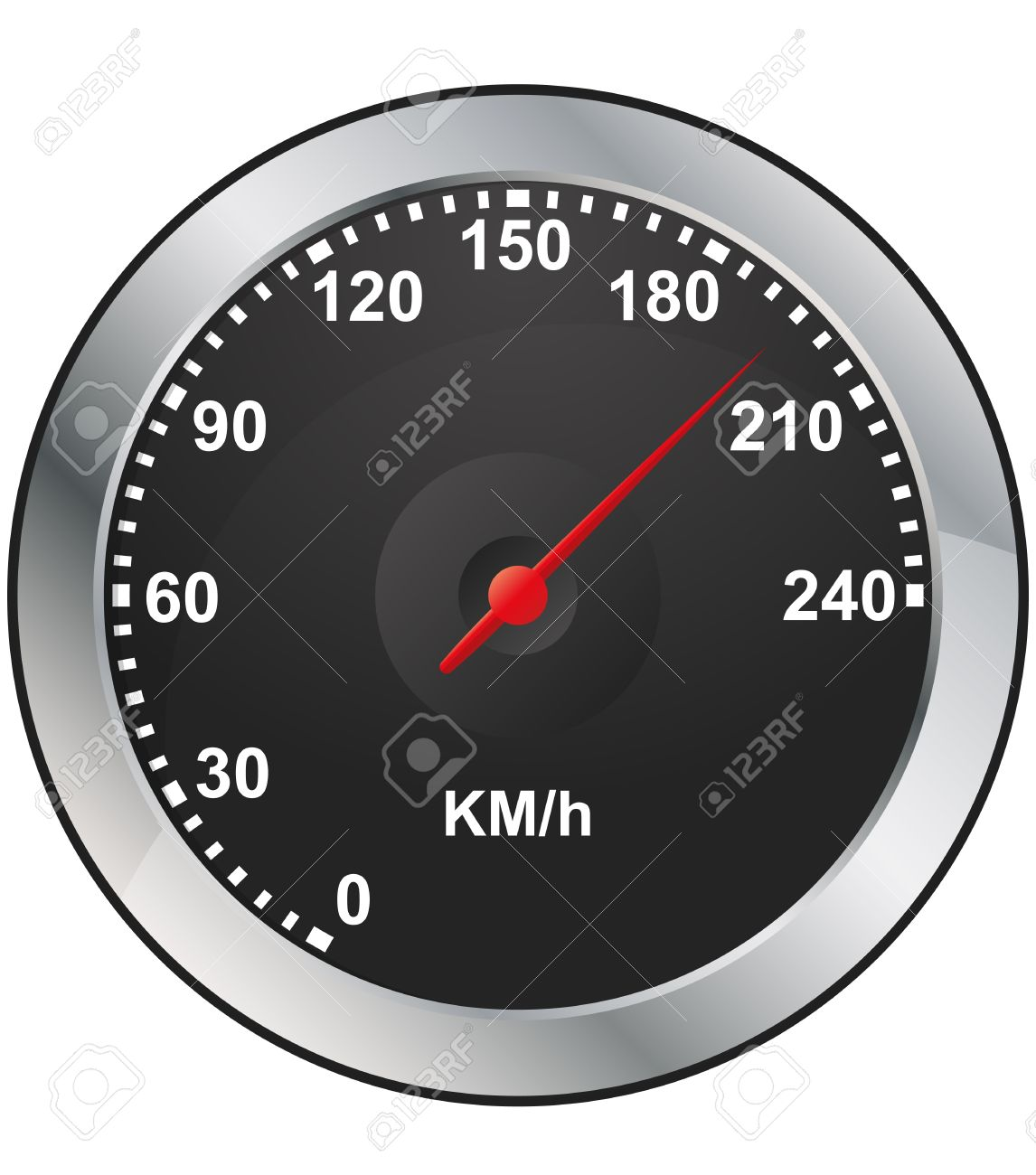 Car Dashboard Gauges Clipart.