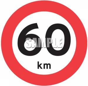 Maximum Speed Limit Road Sign.