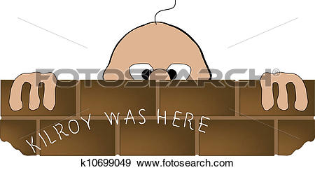 Clip Art of Kilroy Was Here k10699049.