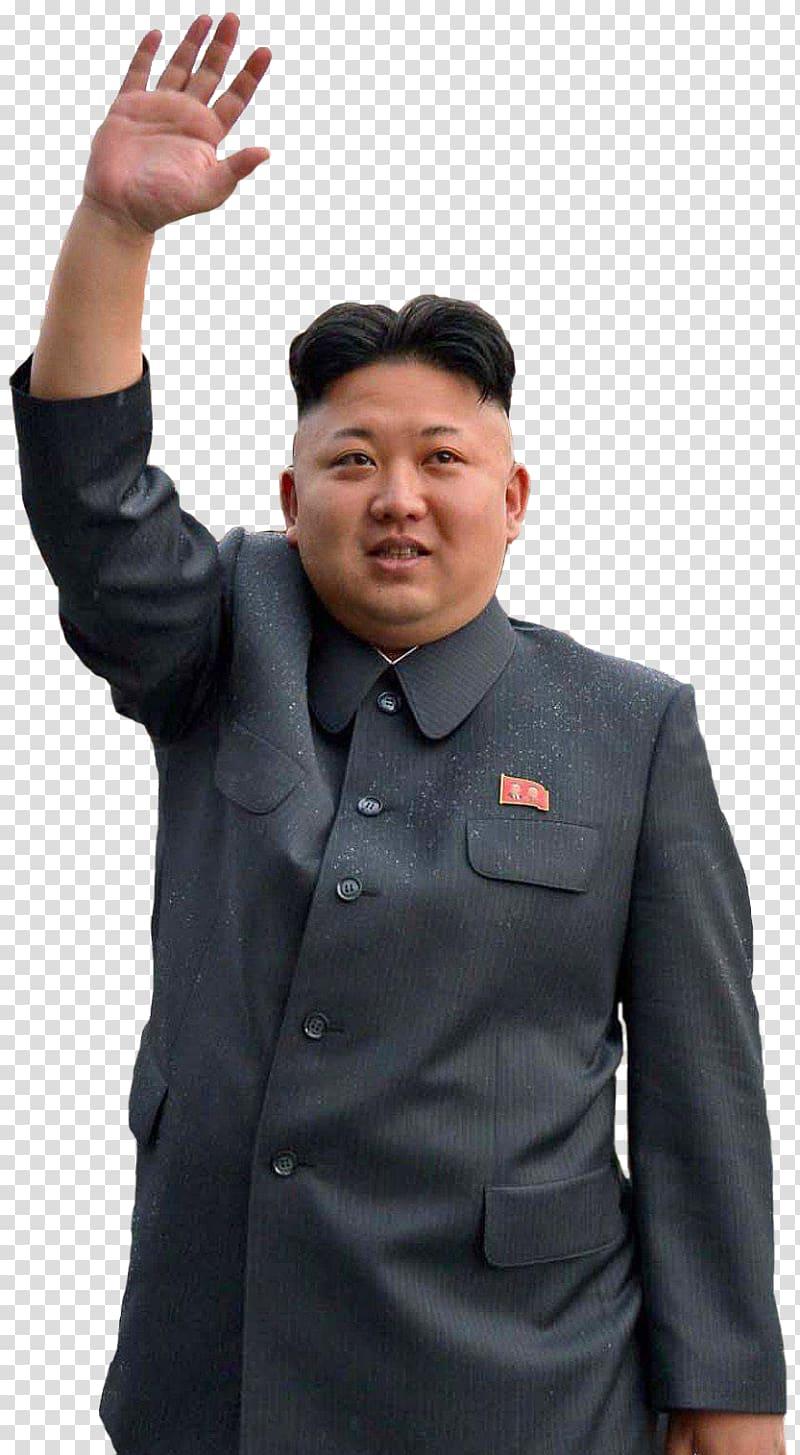 Man in black button.