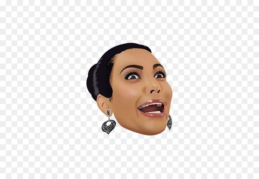 Kim Kardashian Emoji png download.