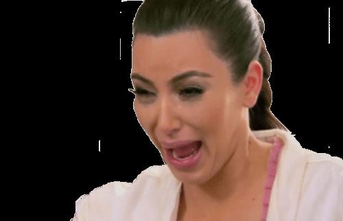 Crying Kim Kardashian transparent PNG.