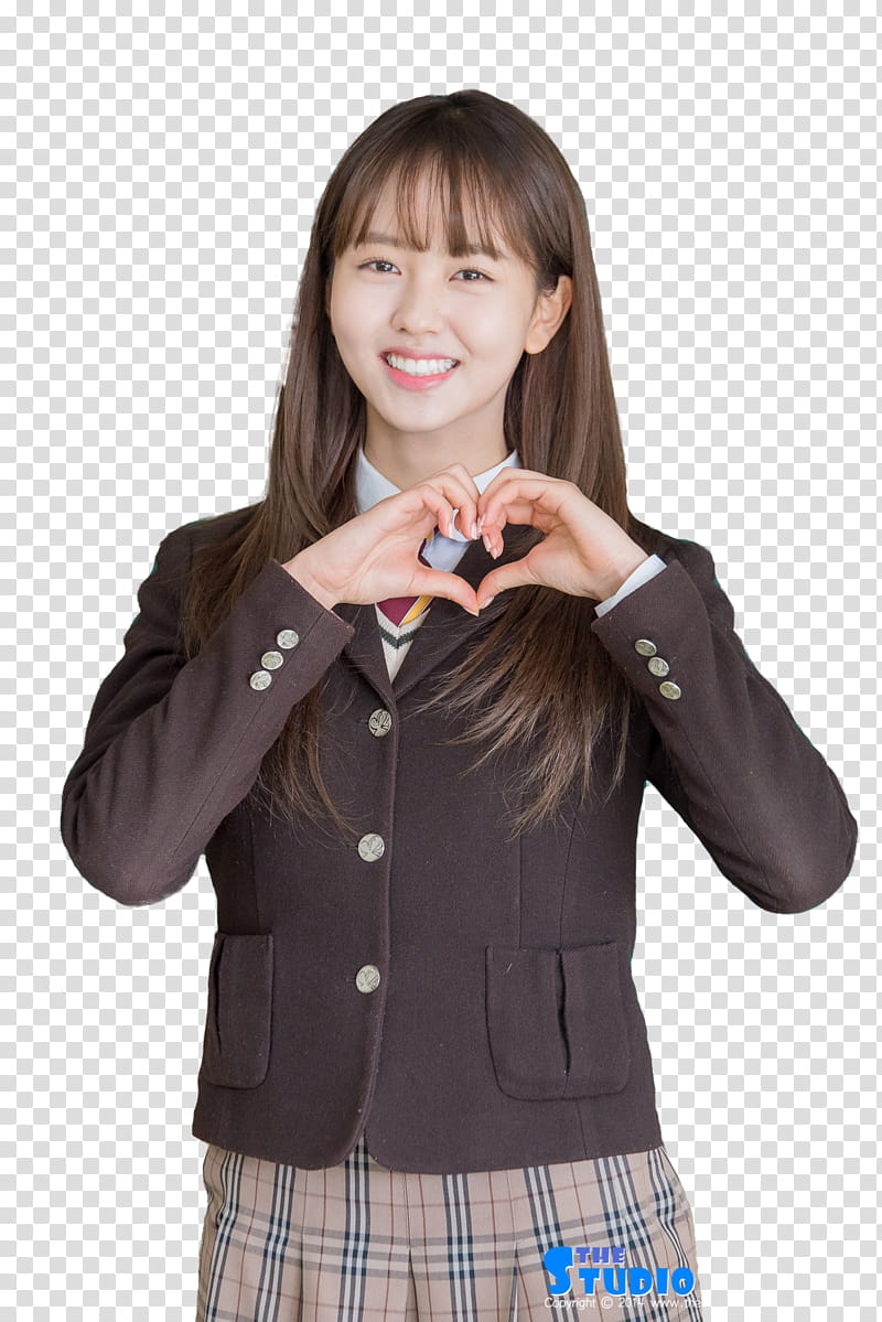 Kim So Hyun transparent background PNG clipart.