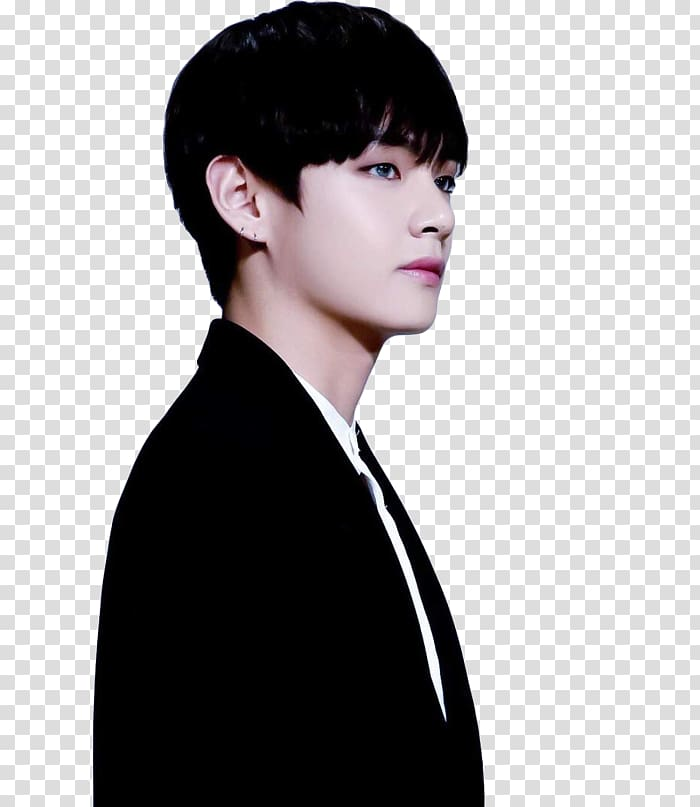 Kim Taehyung BTS Black hair MAMA, hair transparent.