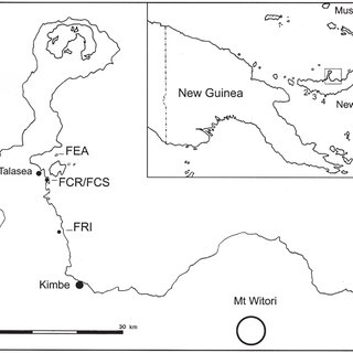 Location of Willaumez Peninsula, West New Britain Province.