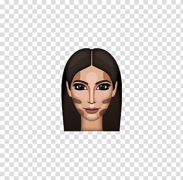 Kimojis, woman with foundation transparent background PNG.