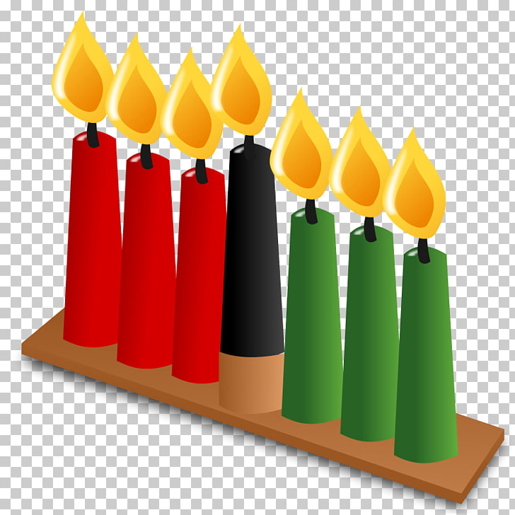 Kwanzaa Kinara , Clip On Candles PNG clipart.