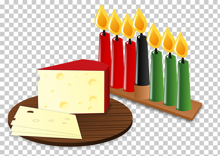 Kwanzaa Kinara , Cake with candles PNG clipart.