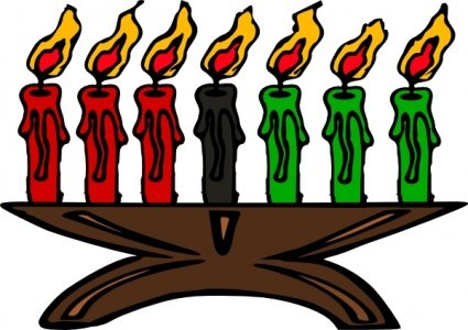 Kwanzaa Kinara Candles Clipart Picture Free Download.