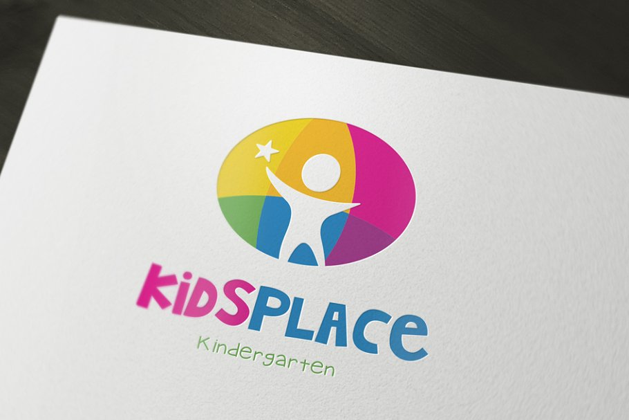 Kids Kindergarten Logo.