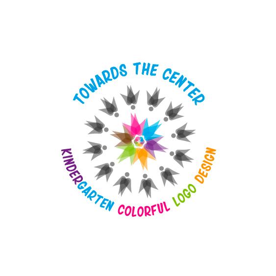 Kindergarten colorful logo design \