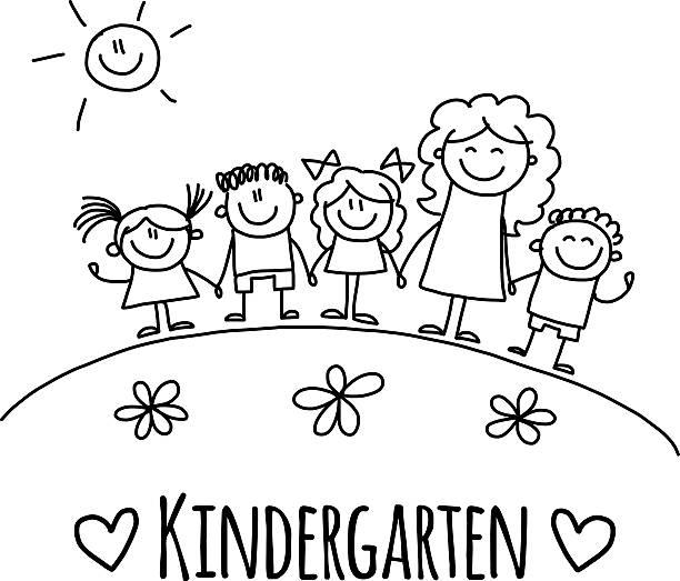 Kindergarten Clipart Black And White.