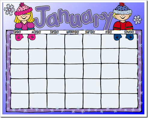 Classroom Calendar Clipart.