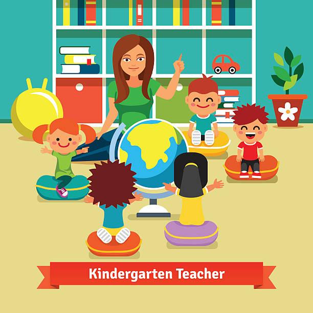 Best Kindergarten Classroom Illustrations, Royalty.