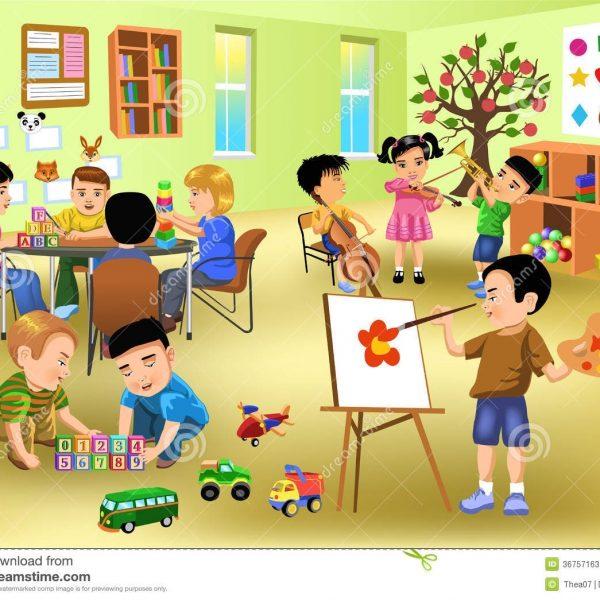 Kindergarten Classroom Clipart within Kindergarten Classroom Clipart.