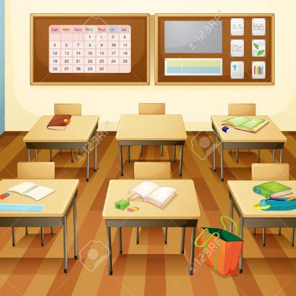 Empty Classroom Clipart intended for Empty Kindergarten Classroom.