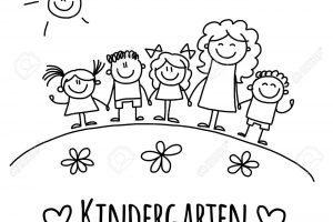 Kindergarten clipart black and white 3 » Clipart Portal.