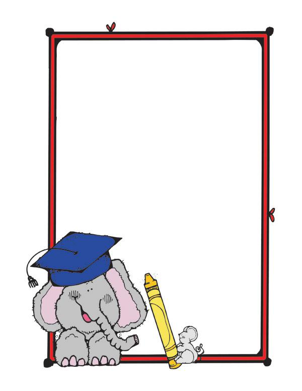 Preschool Graduation Border.